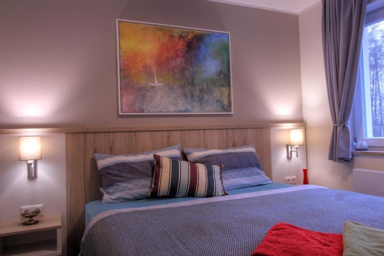 Das Schlafzimmer im Obergeschoss